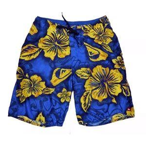 Quiksilver Mens Tropical Hawaiian Swim Board Short